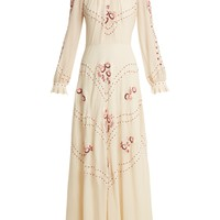 Cara embroidered silk-chiffon gown | Vilshenko | MATCHESFASHION.COM US