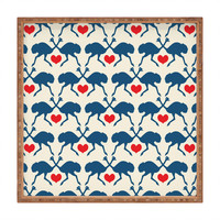 Holli Zollinger Ostrich And Heart Square Tray