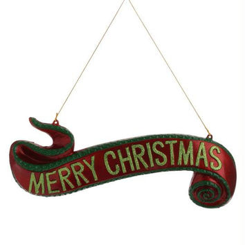 "Christmas Ornament -  "" Merry Christmas ""  Banner"