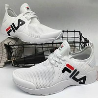 FILA 2018 new soft lightweight fashion casual shoes F-A36H-MY White