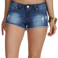 Promo- Denim Shes On Fire Cutoff Shorts