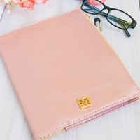 Rose Gold Vegan Leather Agenda Cover