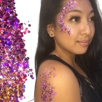 Royal Amethyst Purple Body and Face Festival Glitter (Large 15 Grams)