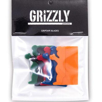 GRIZZLY PLASTIC GRIPTAPE BLADES AST.COLOR 5/PACK