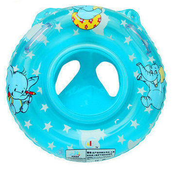 Inflatable Circle Swimming Ring seat Handles Baby Toddler Safety Aid Float Pool Water