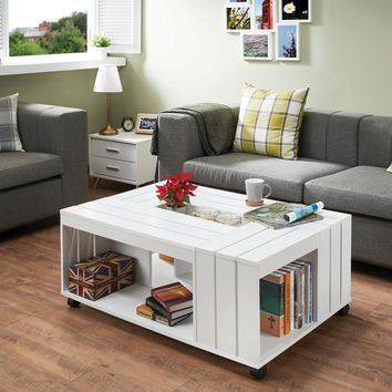 Appealing Coffee Table, White