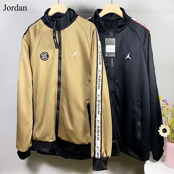 Jordan Autumn And Winter Fashion String Mark Print Sports Leisure Long Sleeve Coat And Pants Two Piece Suit