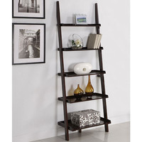 Walnut Five-tier Ladder Shelf