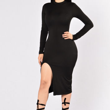 Simple and Sweet Dress - Black