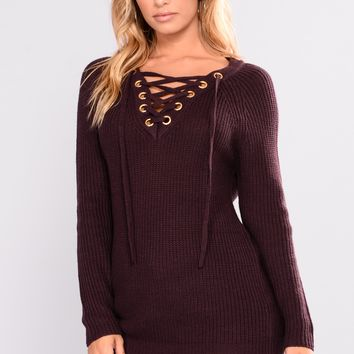 Melanie Sweater - Dusty Violet