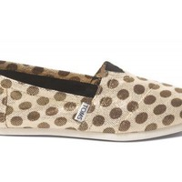 Metallic Dot Brown Women's Classics