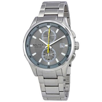 Nautica NCT 19 Grey Dial Mens Chronograph Watch NAD19553G