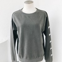 YIN YANG SWEATER- CHARCOAL