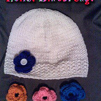 Interchangable Flower Beanie
