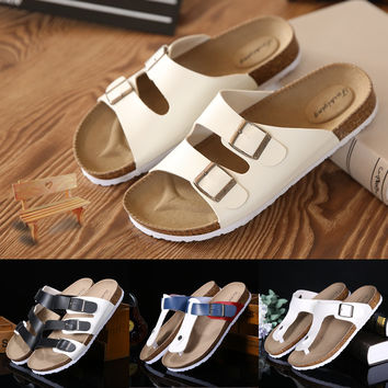 Lovers Casual Sandals Fashion cork slippers Male Summer Man Woman beach slippers flip slip-resistant trend Birkenstock Female