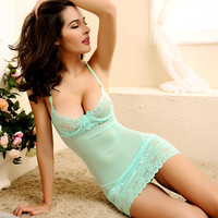 Summer lace nightgowns Sexy Sleepshirts Sleeveless Strap Strip Steel Bracket Bra Nightgowns Women Sleepshirts Free Shipping