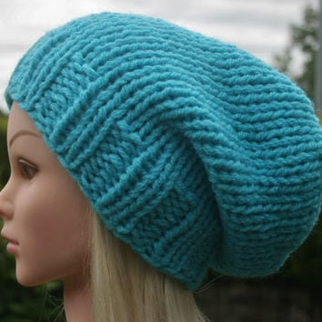Hand Knit Hat- Women's- Men's- Teen hat- Unisex hat- Winter hat- available in different colors