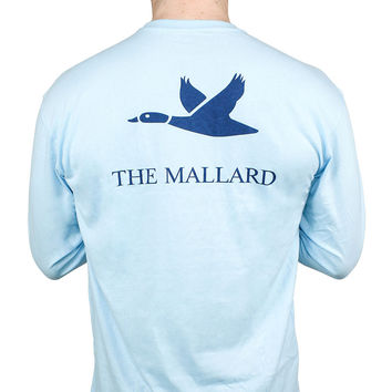 Logo Mallard Shirt in Sky Blue by The Mallard