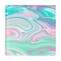 Aqua Pink Beachside Coaster