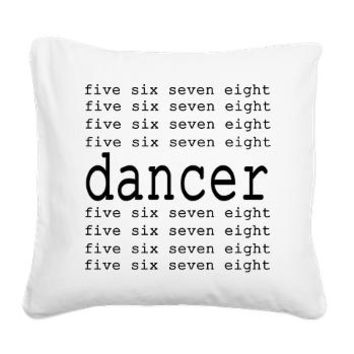 dancer numbers Square Canvas Pillow