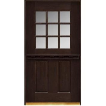 Main Door, Dutch Door Collection 9 Lite Prefinished Espresso Mahogany Entry Door, SH-D9X-36-ES-RH at The Home Depot - Tablet