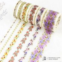 The FLowers Whisper to Leaves Washi Tape Adhesive Tape DIY Scrapbooking Sticker Label Masking Craft Tape