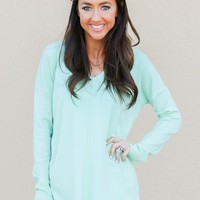 Count On It Sweater in Mint | Monday Dress Boutique