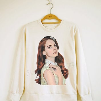 Lana Del Rey Shirt Lana Del Rey Tank Indie Pop Rock Sweater Shirt Sweatshirt Jumpers Long Sleeve Shirt Women Shirt Unisex Shirt Size S,M,L