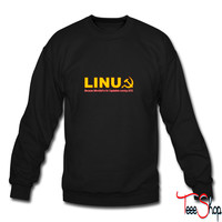 Linux because microsoft is for capitalists sweatshirt