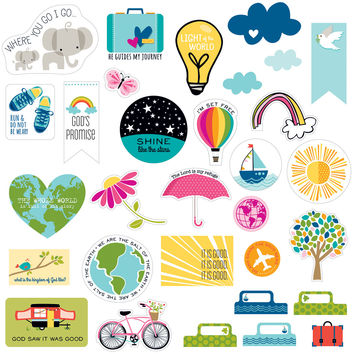 Illustrated Faith Basics Paper Pieces Cardstock Die-Cuts-Go