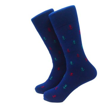 Anchor Socks - Men's Mid Calf - Port & Starboard