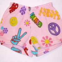 Fuzzy Lounge Shorts by Made with Love and Kisses - Groovy [Fuzzy Lounge Shorts - Groovy] - $35.00 : Gotta Great Gift