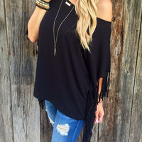 Loose tassels knit Shirt