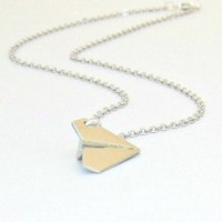 Stainless Steel Harry Styles Paper Airplane (One Direction Fan) Necklace: Jewelry: Amazon.com