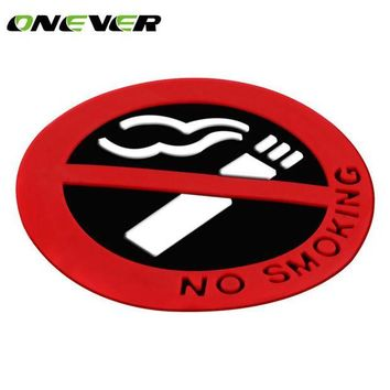 DCCKJY1 car-styling No Smoking Logo Glue Sticker Warning Car Stickers Easy To Stick for universal cars