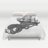Release the Kraken Duvet Cover by John Medbury (LAZY J Studios) | Society6