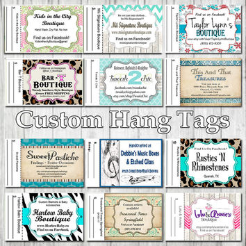 Custom Hang Tag Business Card Style Printing Only Matte  3.5 x 2 inch cards Design services available Sales Tags Shop Tags Record Keeping