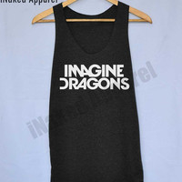 Imagine Dragons Shirts Rock Demons Radioactive tour tumblr night visions Tank Top Vintage Unisex Size S M L