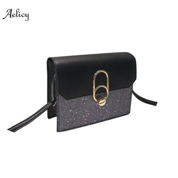 Aelicy Fashion Women Bling Sequins Crossbody Bag Shoulder Bag Messenger Bag 2018 new design vintage handbag 1277