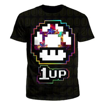 Level Up Mushroom Men's T-Shirt by iEDM