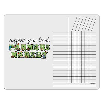 Support Your Local Farmers Market - Color Chore List Grid Dry Erase Board