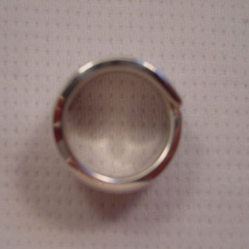 A Gorgeous Spoon Ring Size 7 1/2 Floral Wrap Antique Silver Spoon Jewelry t437