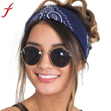 Brand New Women hair accessories 2017 Fashion Bandana Scarf Square Head Female Bandanas Headwear Headbands Women 58*58cm