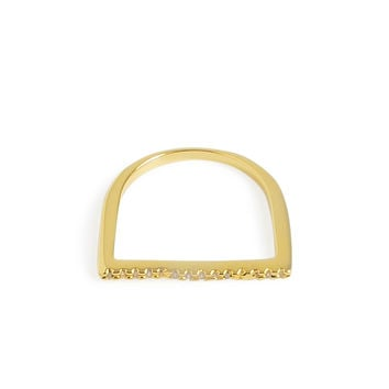 Minimalist Flat Gold Ring