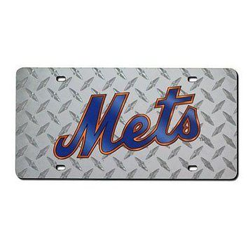 New York Mets Laser Cut Diamond Plate License