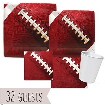 End Zone - Football - Birthday Party 32 Big Dot Bundle