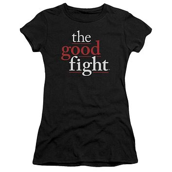 The Good Fight Juniors T-Shirt Logo Black Premium Tee