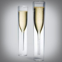 Inside Out Champagne Glasses - $65 | The Gadget Flow
