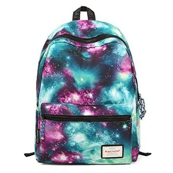 HotStyle TrendyMax Galaxy Pattern Vintage Style Unisex Fashion Casual School Travel Laptop Backpack Rucksack Daypack Tablet Bags