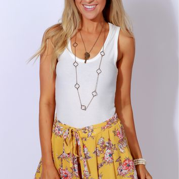 Blooms Day Print Shorts Lemon